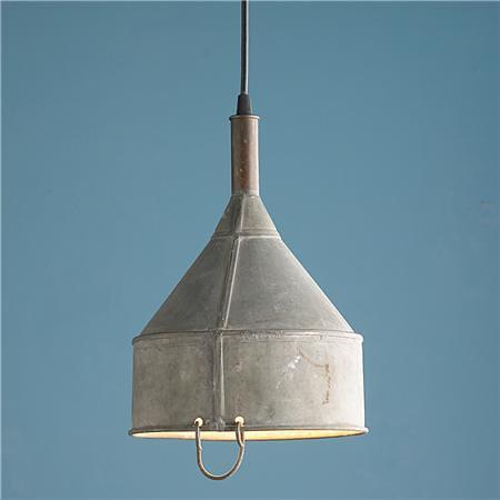 vintage galvanized funnel pendant flickr photo