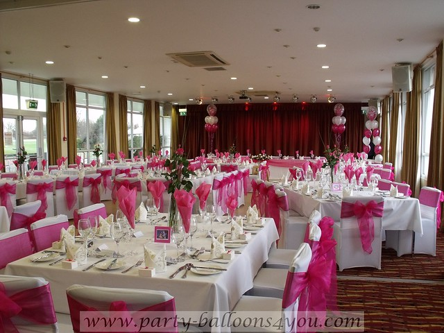 Sashes and bows for banquet chair covers; in polyester, lamme