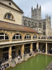 great bath with bath abbey