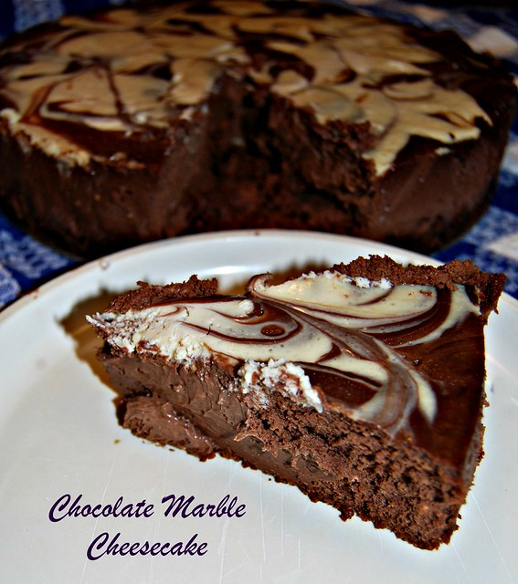 slice chocolate marble cheesecake | Flickr - Photo Sharing!