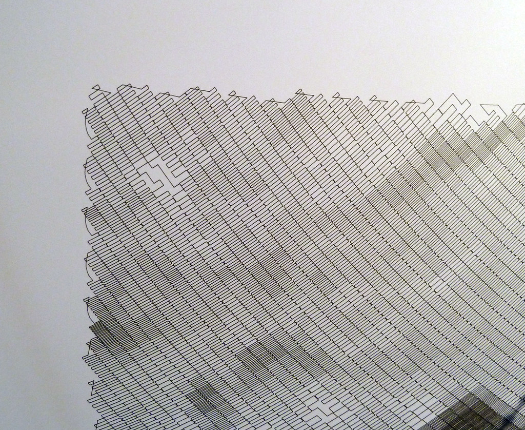 Polargraph drawing by Sandy Noble