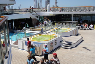 Carnival Conquest with Yellow hot tubs