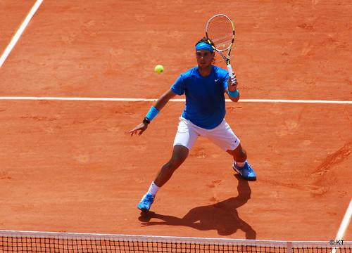 Rafael Nadal en Roland Garros. Imagen en flickr de Carine06