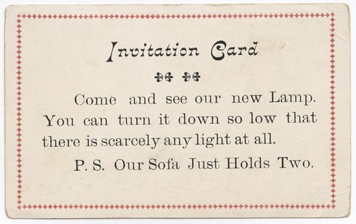 Invitation Card—Come and See Our New Lamp