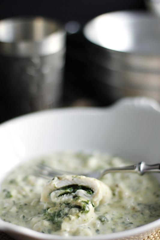 _MG_5580 Pescado relleno de espinacas en salsa de queso azul
