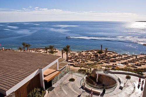 Sharm el-Sheikh beach in Egypt