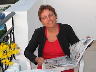 Esther on Corfu - Sept 2005 - Holiday Exercise