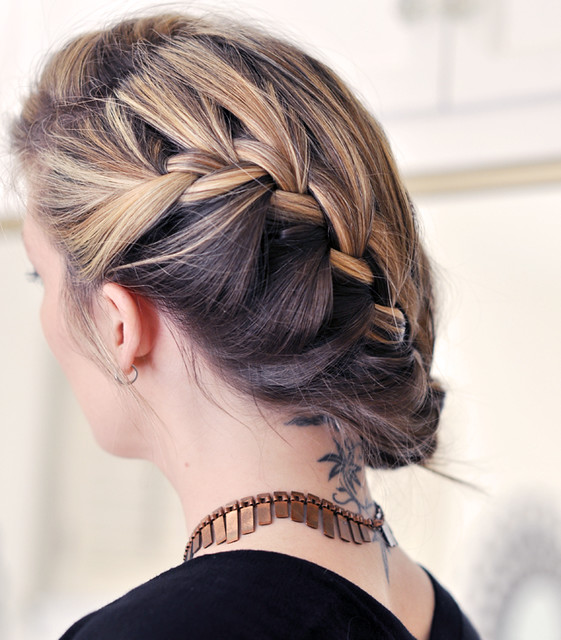 Loose Braid And Up Do: Loose Side French Braid Hair Tutorial
