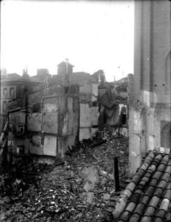 Maisons démolies suites à l'effondrement du clocher de l'église Notre-Dame de La Dalbade, Toulouse, avril 1926
