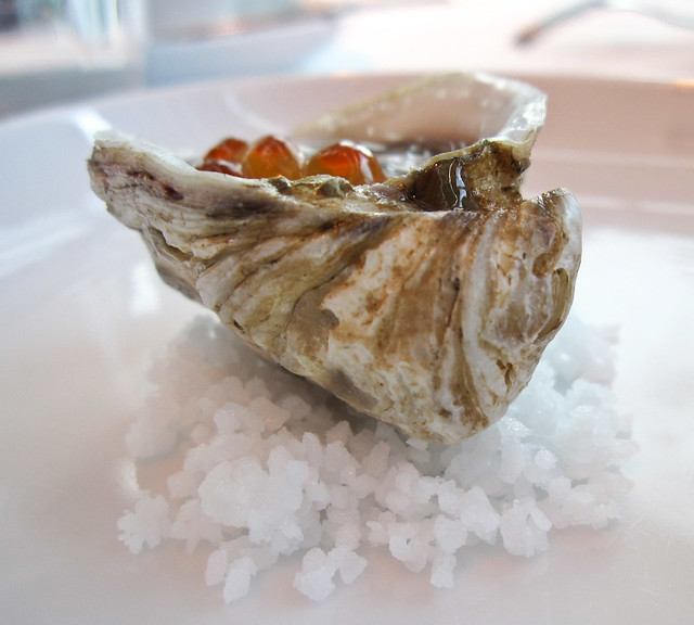 Kushi Oyster with Wild Salmon Roe
