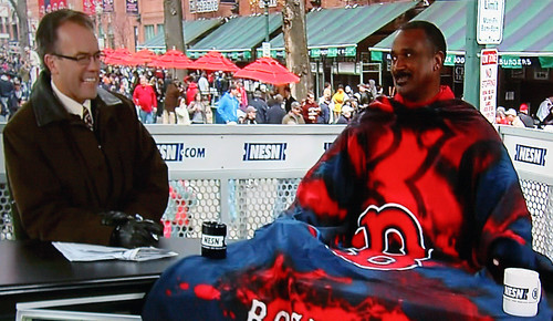 Jim Rice in a Snuggie