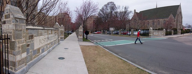 boston college campus entry