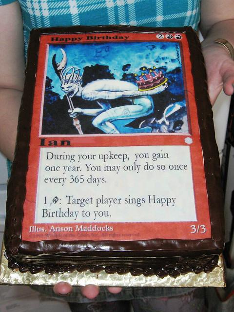 Ian S Magic The Gathering Birthday Cake Flickr Photo