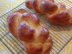 pastry(0.0), bread(0.0), challah(0.0), viennoiserie(0.0), danish pastry(0.0), baking(1.0), tsoureki(1.0), baked goods(1.0), food(1.0), cuisine(1.0), brioche(1.0),