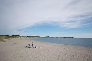Imagine de Husebysanden lângă Farsund. norwegen radreise nordseeküstenradweg