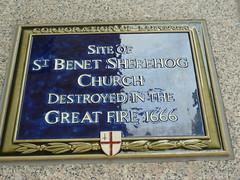 Photo of St. Benet Sherehog, London blue plaque