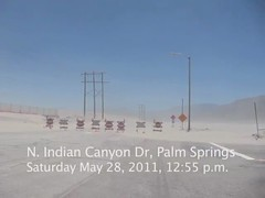 VIDEO: Dust storm Palm Springs desert May 28 2011