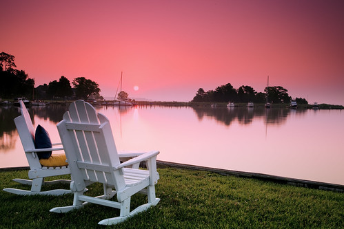 vacation reflection sunrise canon relax dawn glow maryland stmichaels rnr theinnatperrycabin singhray rgnd