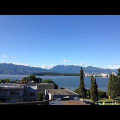 Ocean and mountain view from Vancouver home