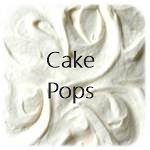 button white frosting cake pops