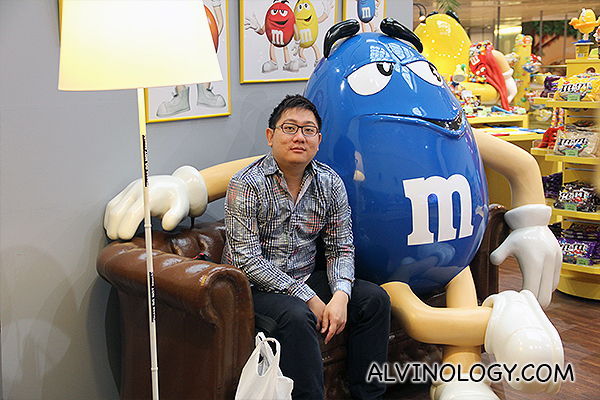 Me with a blue M&M