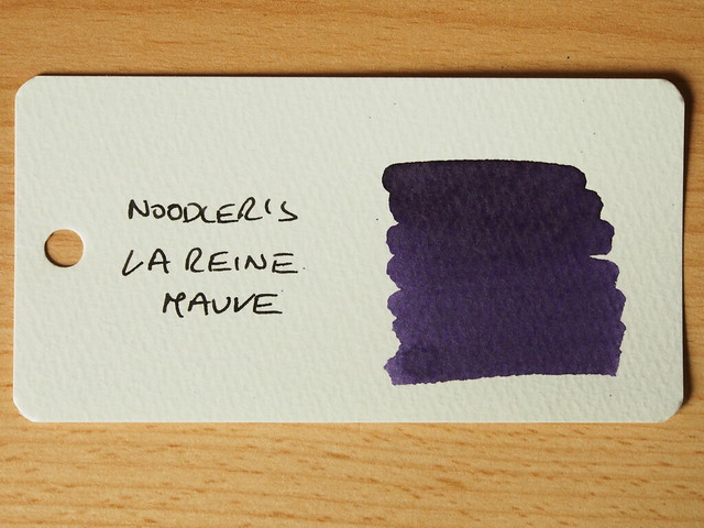Noodler's La Reine Mauve - Ink Review - Word Card