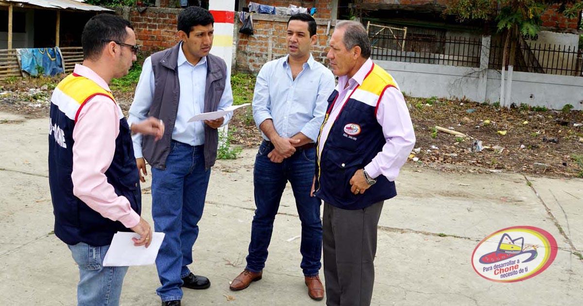 Alcalde y delegados del IESS realizaron recorridos