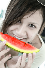 watermelon, face, head, fruit, food, close-up, mouth, eating, organ,