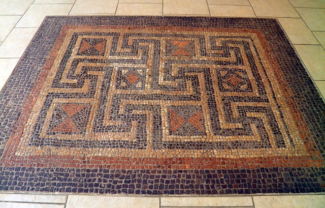 The Meander Mosaic from Beeches Road, Corinium Museum (Cirencester)