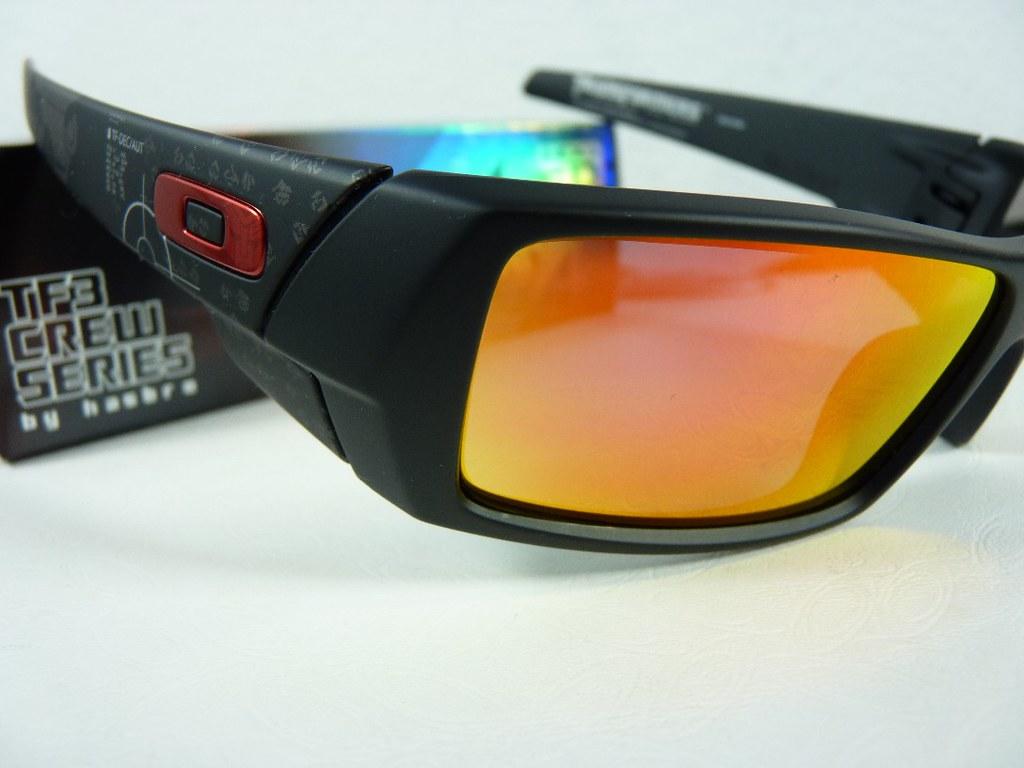 71ec585df6735 Oakley Gascan Matte Black w Fire Irid TRANSFORMERS