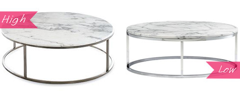 Design Evolution High Low A Marble Coffee Table