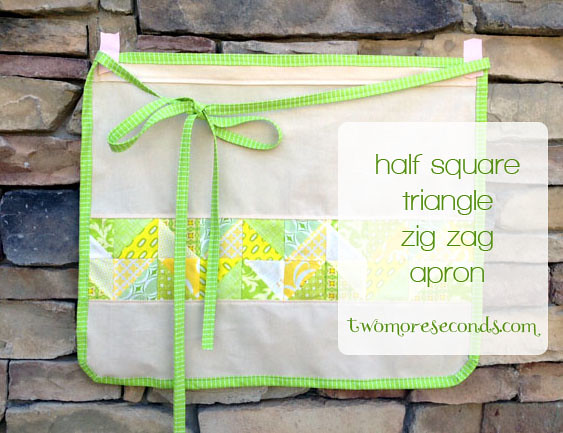 Half Square Triangle Zig Zag Apron tutorial