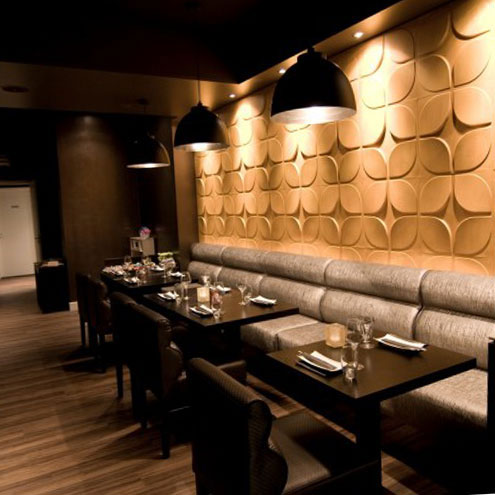 Sushi bar looks fingerlicking good with wallart 3d wall panels a