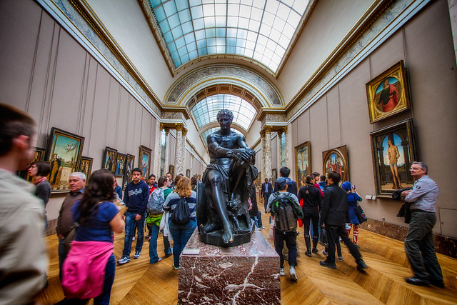 The Crowded Louvre