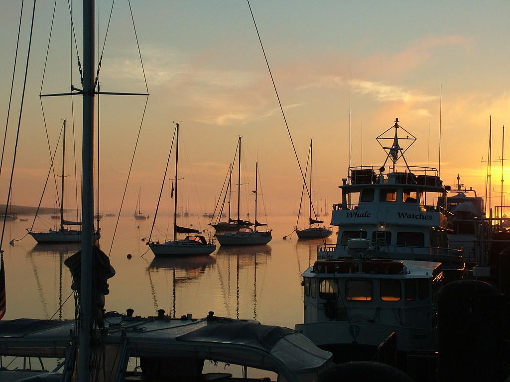 Boats at dawn, Newburyport waterfront, Credit: Donna O'Neil