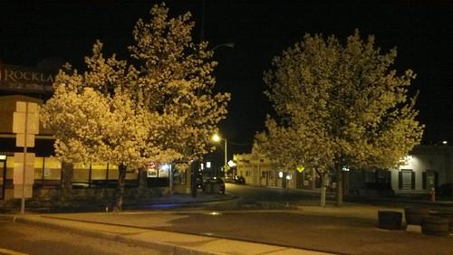 Franklin at night