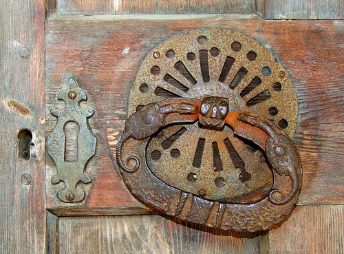 14th Century dragons on the door handle