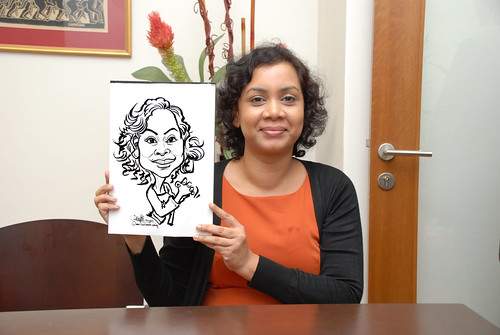 Caricature live sketching for Marks & Clerk Singapore LLP Christmas Party - 8