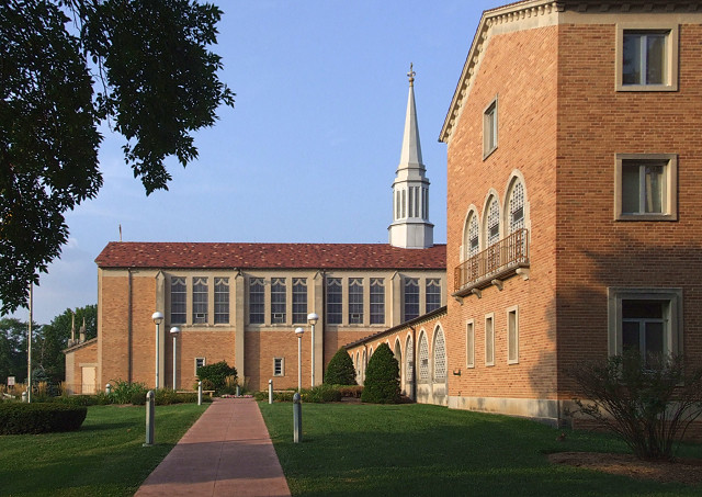 Saint Mark Roman Catholic Church, in Affton, Missouri - exterior - 2