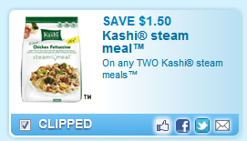 Kashi Steam Meals Coupon