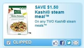 Kashi Steam Meals Coupon