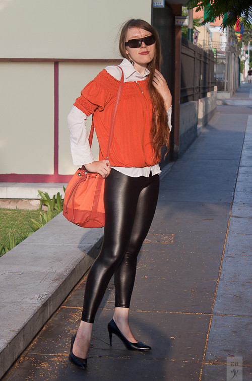 Orange & Leather