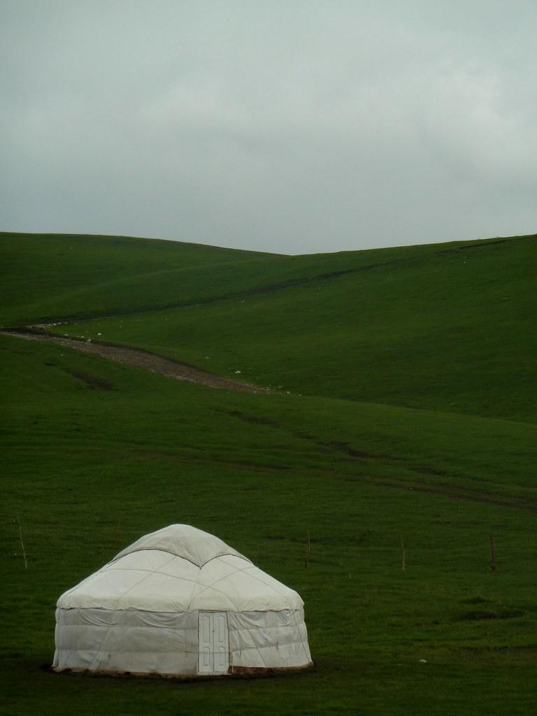 Yurta prop del coll de Chiyrchik (Kyrgyzstan)