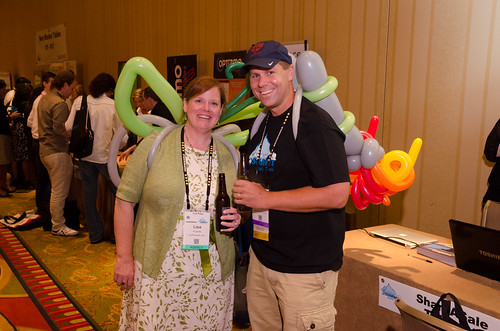 Lisa Picarille and Shawn Collins at Affiliate Summit Central 2012
