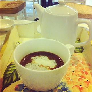 La Creperie's Angelina's - French hot chocolate. Sooooo good.