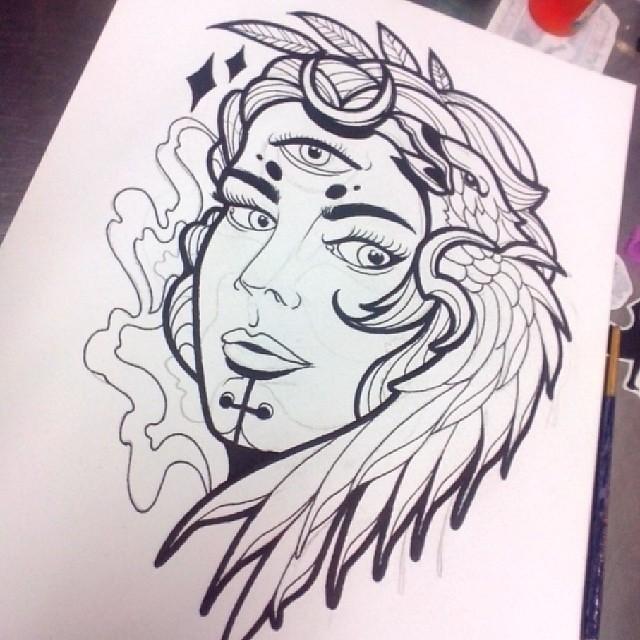 Dia De Dibujo Linea Para Comenzar Tatuaje Ta2 Tinta Flickr