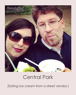 NYC Selfie Central Park Ice Cream