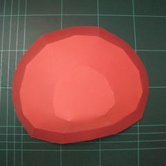 วิธีทำโมเดลกระดาษหมีรีแลกคุมะถือป้าย (Rilakkuma Papercraft Model 1) 007