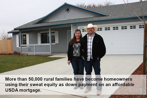 "Maria and Ignacio Gordillo of Reedley, Calif., helped build their house last year through USDA's Mutual Self-Help Housing Loan Program. More than 50,000 rural families have become homeowners using their ""sweat equity"" as a down payment on an affordable USDA mortgage."