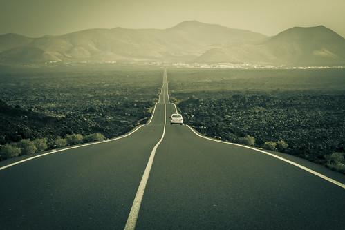 camino hacia el Timanfaya